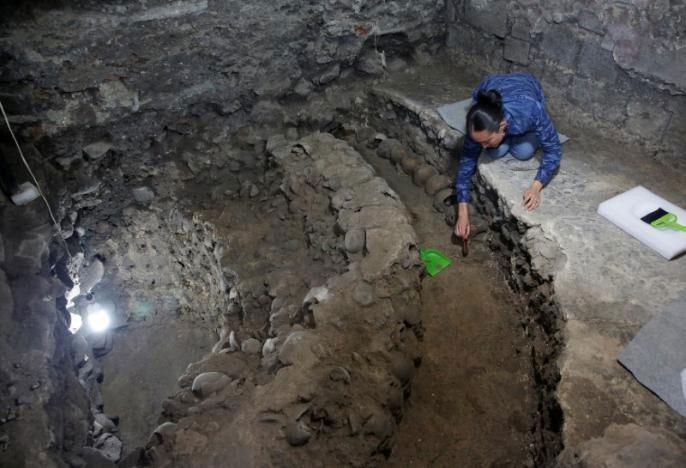 Phát hiện tháp đầu lâu bí ẩn của người Aztec