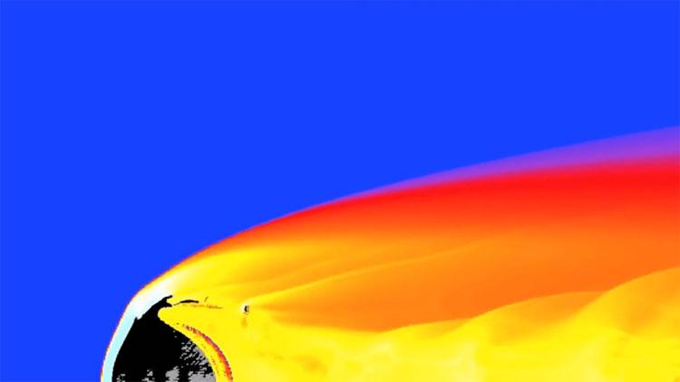 Quá trình vỡ nát của tiểu hành tinh lao vào khí quyển Trái Đất