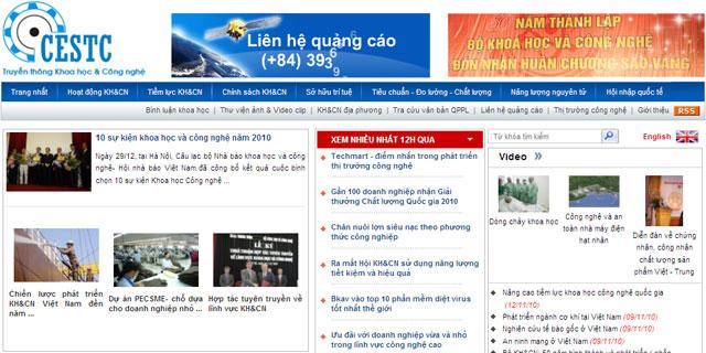 Ra mắt website truyền thông khoa học công nghệ
