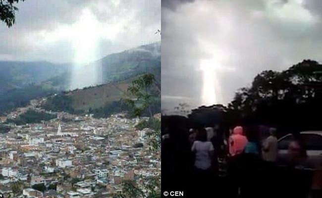 Sau lở đất, hiện thân của Chúa xuất hiện trên bầu trời Columbia