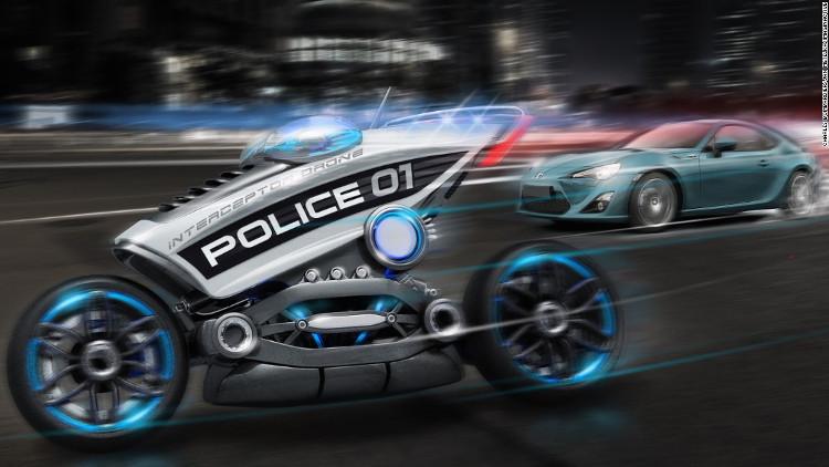 Siêu mô-tô không người lái sẽ thay cảnh sát tuần tra?