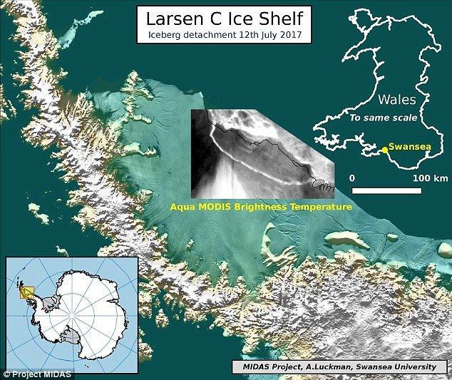 Tảng băng một nghìn tỷ tấn đã tách khỏi Nam Cực
