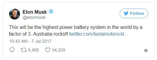 Tesla sắp xây dựng nhà máy trữ điện bằng pin lớn nhất thế giới