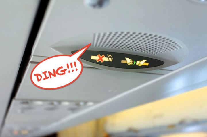Tiếng ding trên máy bay có ý nghĩa gì?