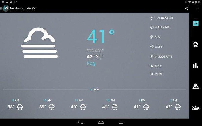 Tổng hợp phần mềm theo dõi thời tiết miễn phí trên Android