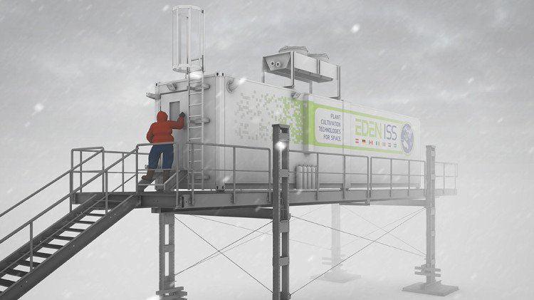 Trang trại container thử nghiệm tại Nam Cực trước khi lên... sao Hỏa