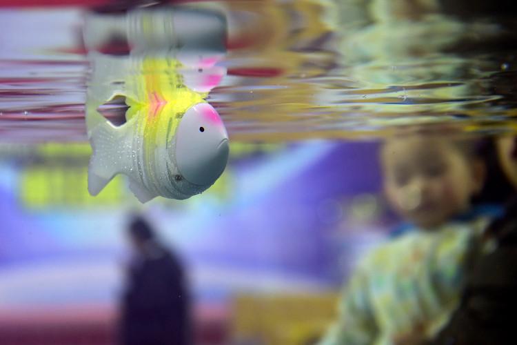 Trung Quốc chế tạo cá robot thân mềm đo độ mặn nước biển
