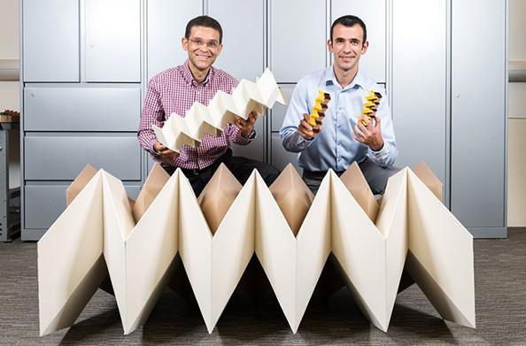 Ứng dụng nếp gấp Origami tạo ra cấu trúc vừa cứng vừa linh hoạt