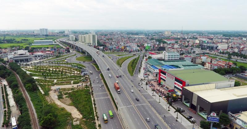 Vẻ đẹp 4 nút giao thông nghìn tỷ của Hà Nội nhìn từ trên cao