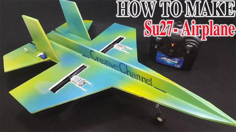 Video: Cách làm máy bay lên thẳng SU-27 Sukhoi