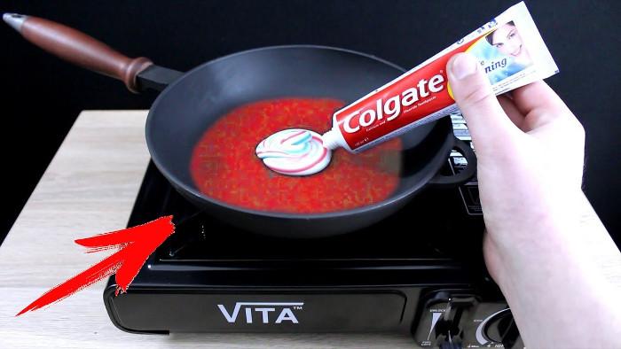 Video: Điều gì sẽ xảy ra nếu cho kem đánh răng vào chảo nóng?