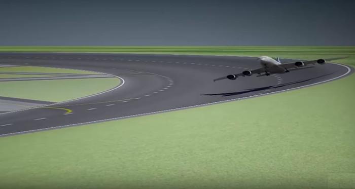 Video: Đường băng tròn cho nhiều máy bay cất hạ cánh cùng lúc