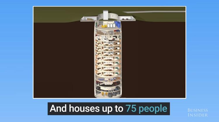 Video: Hầm trú tận thế sâu 15 tầng cho giới nhà giàu Mỹ