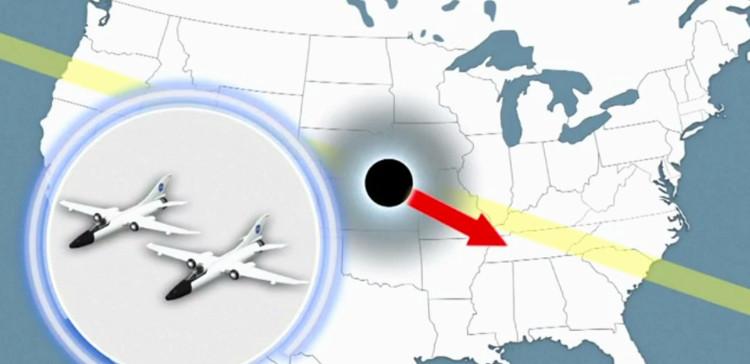 Video: NASA cho máy bay bám theo nhật thực toàn phần