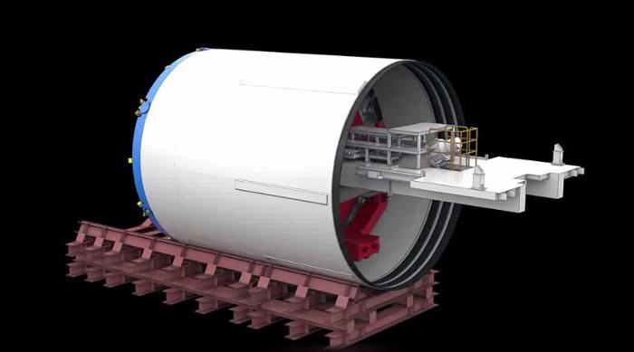 Video: Robot 300 tấn được đưa xuống lòng đất như thế nào?
