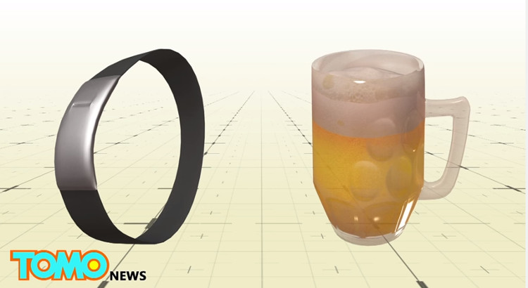 Video: Vòng đeo tay cảnh báo tửu lượng cho người uống bia rượu
