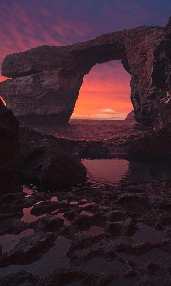 Vòm đá Azure Window trước khi sập xuống biển