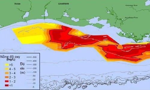 Vùng chết trên vịnh Mexico mở rộng kỷ lục