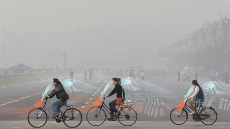 Xe đạp ăn khói mù và nhả không khí sạch ở Trung Quốc
