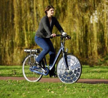 Xe đạp điện tự sạc chạy tốt trong ngày mưa