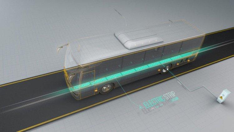 Xe điện có thể vừa chạy vừa sạc ngay trên đường