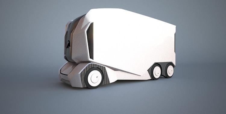 Xe tải đầu kéo được trang bị công nghệ tự động lái, không có chỗ cho con người