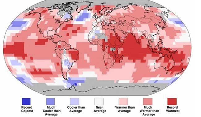 2016 có thể là năm nóng nhất trong lịch sử