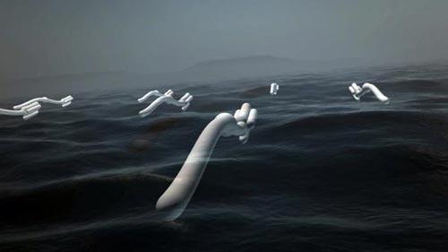 'Rắn cao su': Năng lượng điện từ sóng biển
