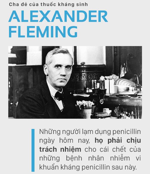 80 năm trước, Alexander Fleming đã cảnh báo nhân loại về ngày hôm nay đen tối