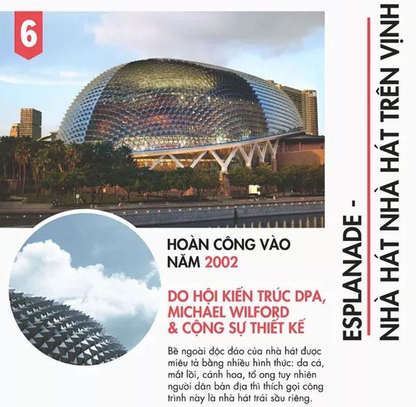 9 công trình kiến trúc để đời của Singapore