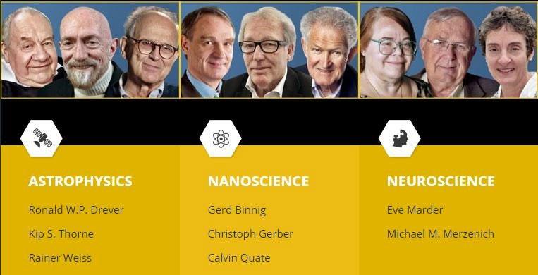 9 nhà khoa học vừa giành giải có tiền thưởng lớn hơn cả giải Nobel