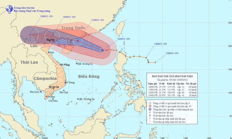 Bão Kai-Tak tăng mạnh, hướng vào Cao Bằng - Lạng Sơn