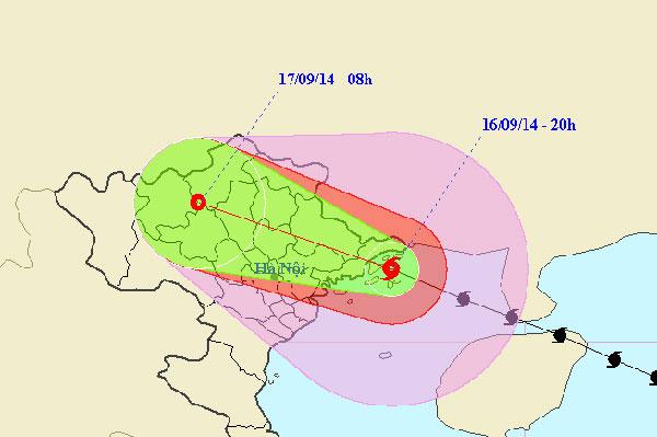 Bão Kalmaegi tiến sâu vào đất liền và giảm cấp