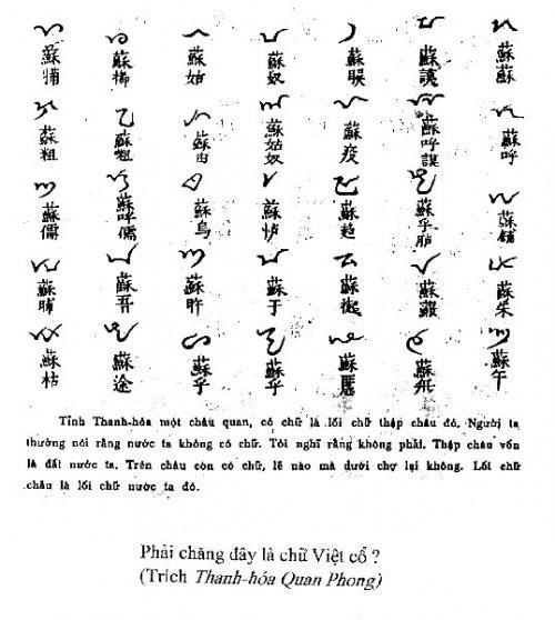 Bí ẩn chữ viết thời Hùng Vương