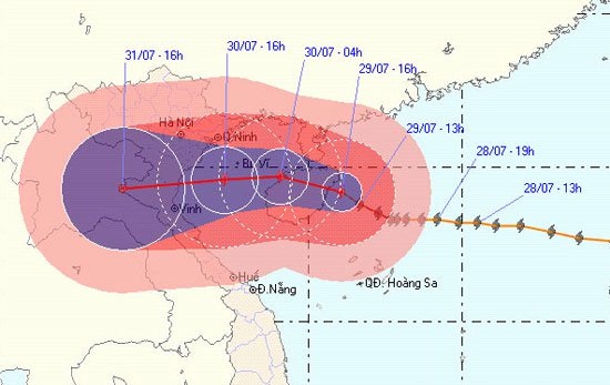 Cấm tàu thuyền ở Vịnh Bắc Bộ, ứng phó bão số 3