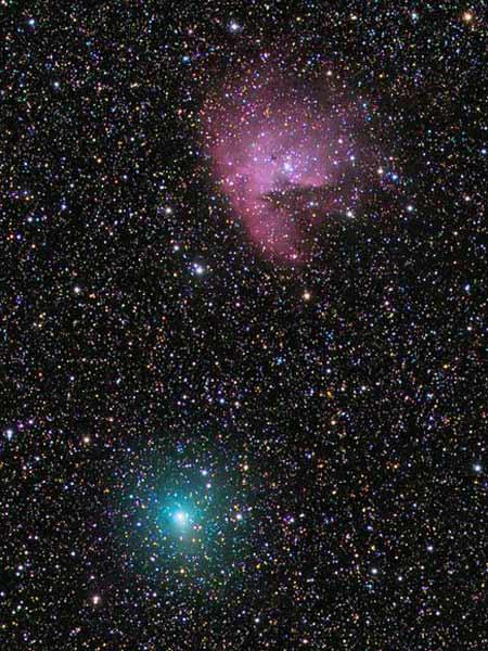 Cảnh sao chổi xanh ma quái tiến tới gần Trái Đất