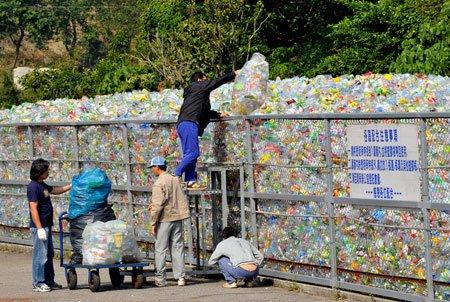 Chai nhựa - mỏ vàng ở Đài Loan