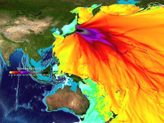 Chấn động từ động đất Nhật Bản vươn tới gần vũ trụ