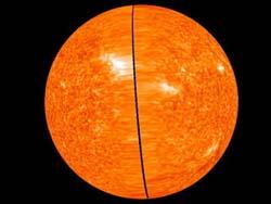 Chụp ảnh mặt trời 3 chiều đầu tiên