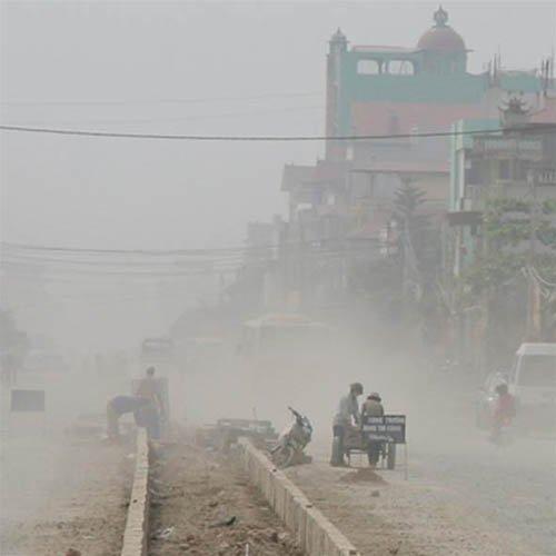Điện thoại di động kiểm tra ô nhiễm không khí