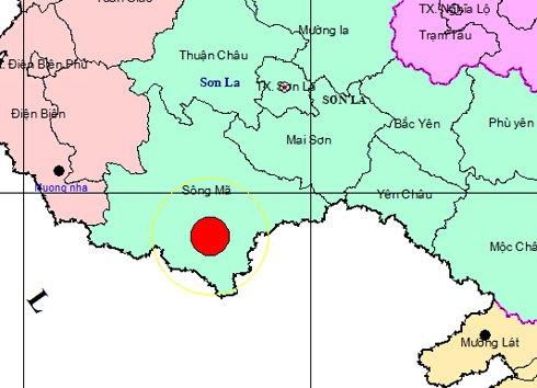 Động đất 4,2 độ richter ở Sơn La
