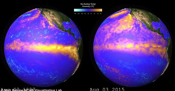 El Nino 2015 giống đến kỳ lạ với đỉnh điểm 1997