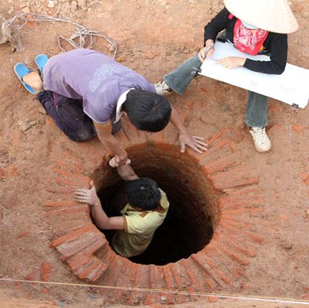 Giếng cổ ở khu đô thị Ciputra sâu trên 6 mét