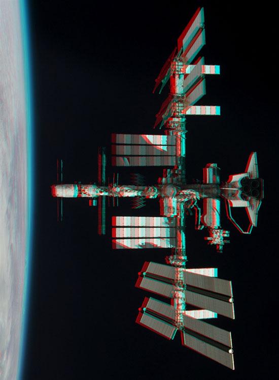 Hình ảnh 3D đầu tiên về trạm vũ trụ quốc tế