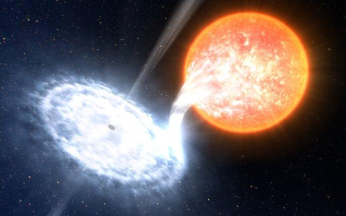 Hố đen gần Trái Đất nhất đỏ rực khi ăn sao