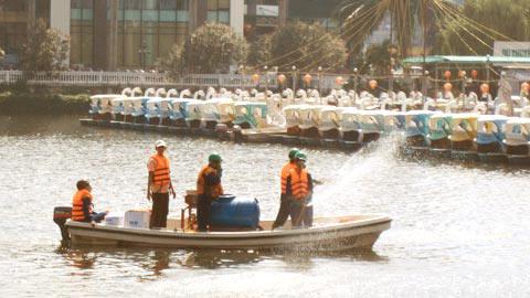 Khởi công công trình xử lý ô nhiễm hồ Trúc Bạch