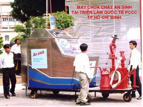 Máy chữa cháy không cần năng lượng