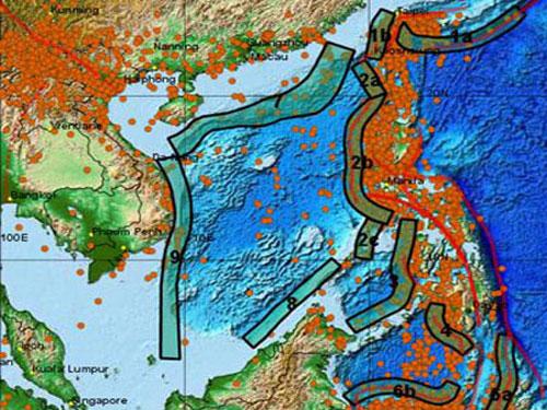 Miền Trung có thể bị sóng thần trên 10m