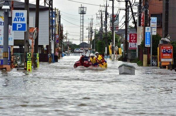 Nhật Bản đang hứng chịu những trận mưa lớn nhất trong 50 năm