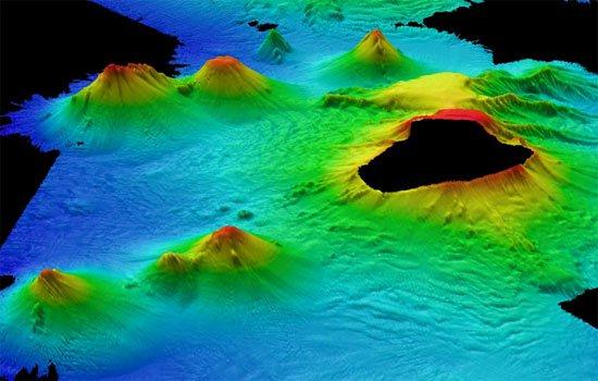 Núi lửa khổng lồ dưới đáy biển Nam Cực
